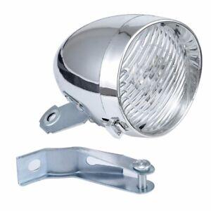 Vintage Bike 3 LED Retro Bicycle Headlight Front Light Fog Head Night Lamp USA