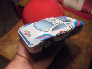 Ancienne-Boite-a-Crayon-de-Couleur-Tole-JAGUAR-XJ220-1995-Martini-GT-Racing-Team