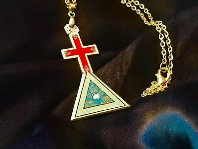 Occult collection on ebay golden dawn rose cross supernal triangle solid brass rosicrucian occult magick mozeypictures Image collections