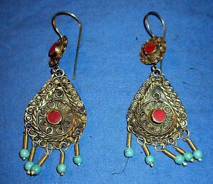 Earrings-Teardrop-Gemstone-Afghan-Kuchi-Tribal-Alpaca-Silver-1-1-2-034