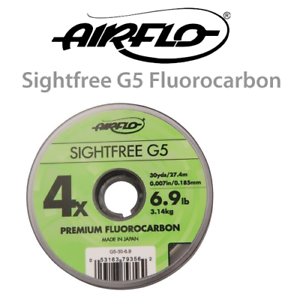 Airflo G5 Sightfree Flurocarbon 100m ** New 2019 Stocks ***