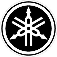 "#927 3.5"" Yamaha Logo Motorcycle Drum Snowmobile decal sticker Yellow"