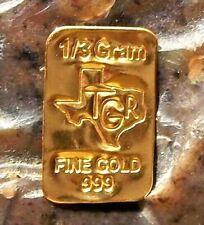GOLD 1//60 GRAM PURE .999 FINE 24k FRACTIONAL GOLD CHRISTMAS BAR 3mm X 6mm e19