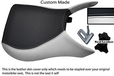 WHITE /& BLACK CUSTOM FITS HYOSUNG GT 250 R COMET UP TO 2010 FRONT SEAT COVER