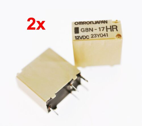 2x OMRON G8N-17HR KFZ RELAIS 12VDC 30A Sensible Automotive Relay *NEU* #715043