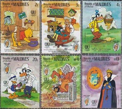 Dynamic Maldivas 1148-1153 (completa Edición) Nuevo Con Goma Original 1985 Walt-disney-p Long Performance Life
