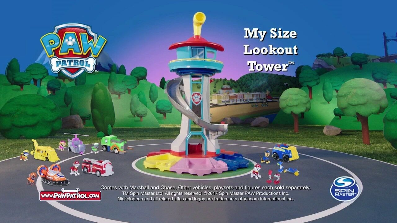 Paw Patrol - My Size Lookout Tower with Exclusive Vehicle, redating