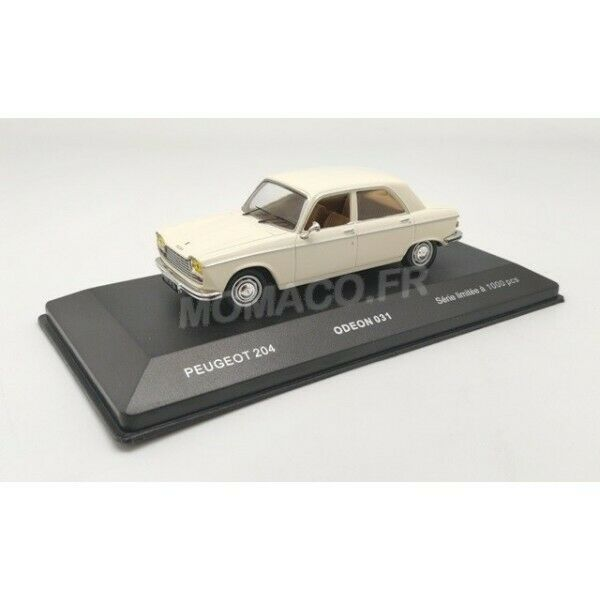 PEUGEOT 204 1967 BLANCHE  ODEON      1 43