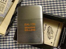 VINTAGE ZIPPO GALION GRADERS ROLLERS LIGHTER 1940s PAT. 2032695