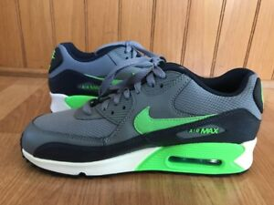 reputable site 67b2c dfb92 Image is loading Mens-Nike-Air-Max-Grey-Black-Neon-Green-
