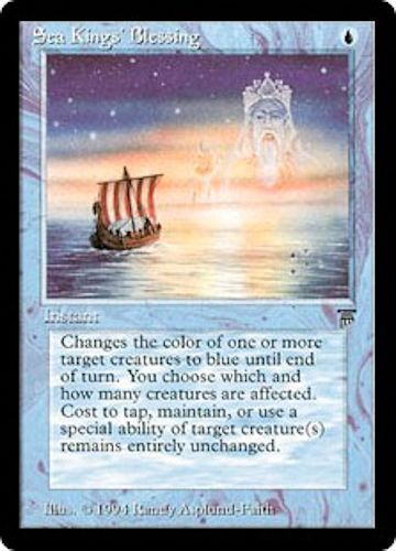 //// Magic the Gathering Sea Kings/' Blessing //// EX //// Legends //// engl