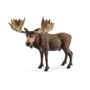 Schleich-Moose-Bull-Animal-Figure-NEW-IN-STOCK-Educational