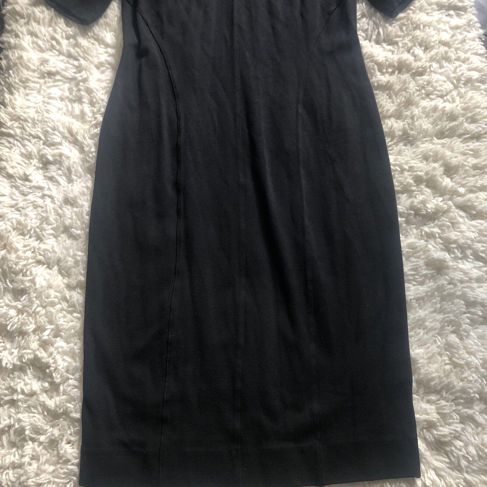 Cabi Claire Modern Sheath Dress q Black Ponte Kni… - image 3