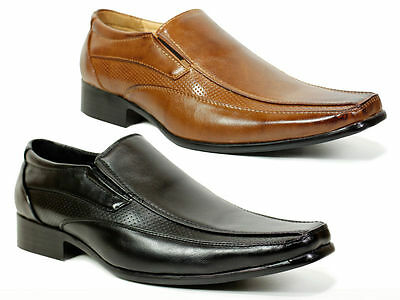 New Mens Boys Smart Wedding Shoes Italian Formal Office Casual Leather Size 6-12