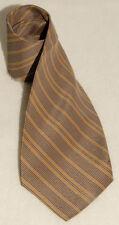 CERUTTI 1881 - Brown w/ Blue Striped - 100% PURE SILK Mens NECK TIE *Vintage