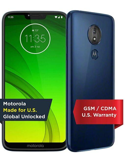 Moto G7 power   Unlocked   Made for US by Motorola   3/32GB   12MP Camera   Blue