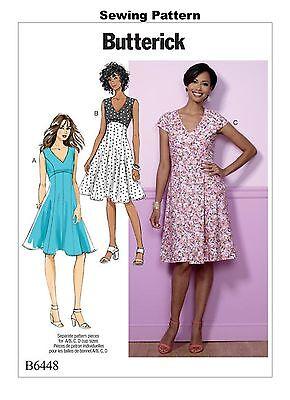 Butterick B6450 patrón-Extraña//extraña Petite Vestido Talla 6-22 Totalmente Nuevo