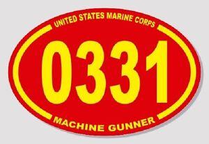 Lot-of-5-STICKERS-3-X-4-5-UNITED-STATES-MARINE-CORPS-USMC-0331-MACHINE-GUNNER