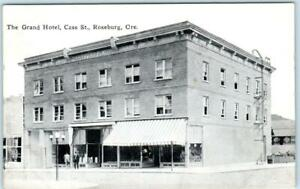 Roseburg Oregon Or Grand Hotel Cass Street Scene Ca 1910s Postcard Ebay