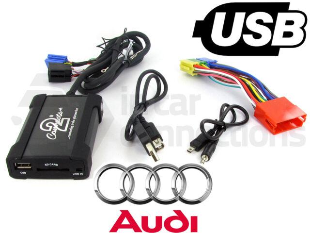 Audi S4 USB adapter interface CTAADUSB003 car AUX SD input MP3 jack 1997 - 2006
