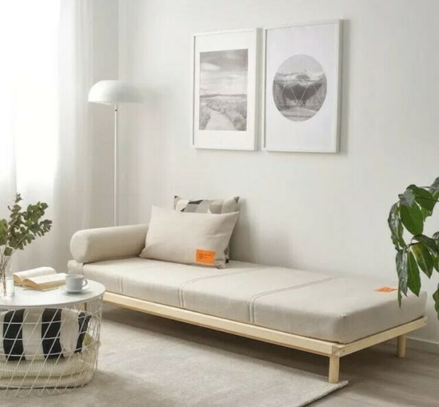 Ikea X Virgil Abloh Day Bed Frame Pine With Cover For Sale Online Ebay