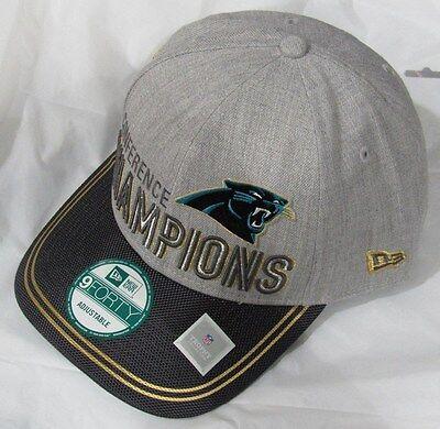Carolina Panthers New Era 2015 NFC Conference Champions 9FORTY Locker Room Hat