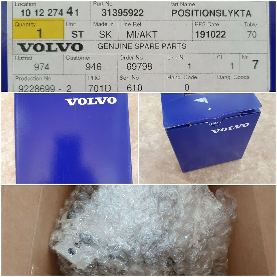 Lygter, Led tågelygte, Volvo V40