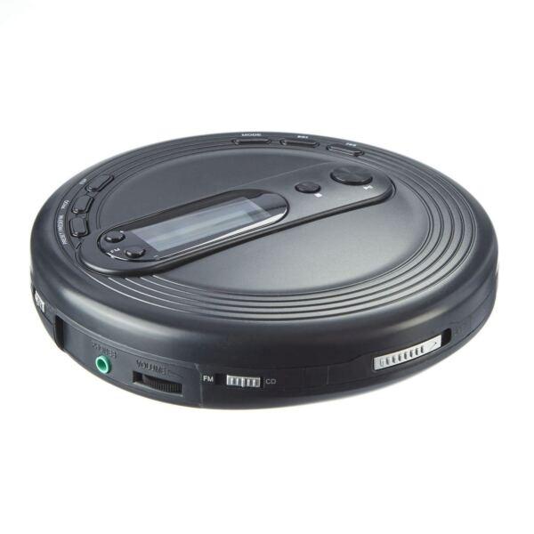 onn onb15av201 personal portable cd player with fm radio. Black Bedroom Furniture Sets. Home Design Ideas