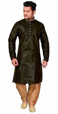Men/'s Kurta Shalwar Kameez Pyjama Sherwani Wedding Asian Party Wear Outfit 747