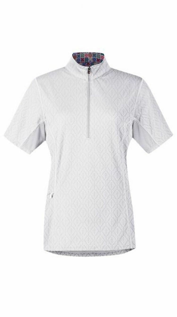 Kerrits Hybrid  II Riding Shirt-White-L  authentic quality