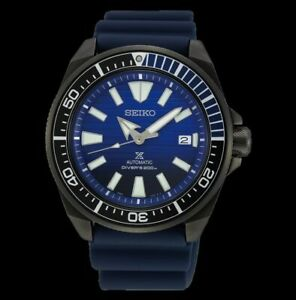Seiko-SE-Save-the-Ocean-Dark-Samurai-200M-Diver-039-s-Men-039-s-Watch-SRPD09K1