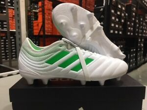 66e4176fb Adidas Men's Copa Gloro 19.2 FG Soccer Cleats (White/Slime) Size ...