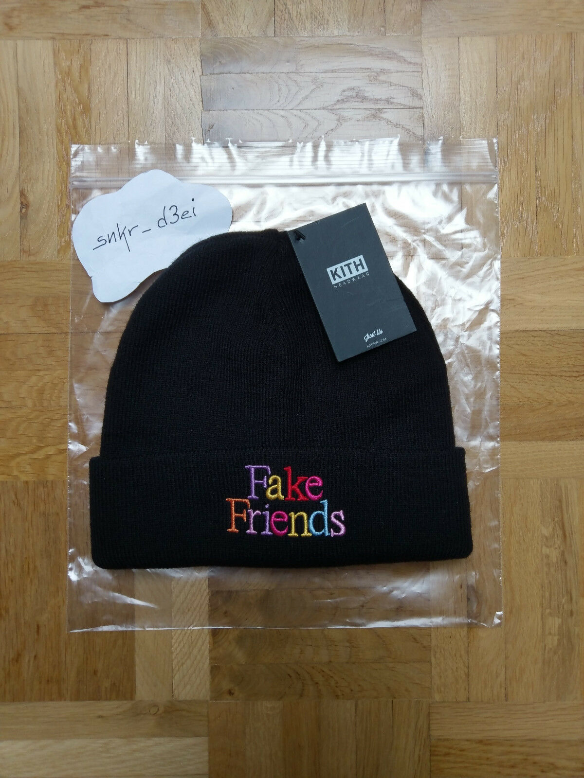 Kith Us Fake Friends Beanie - Schwarz - Neu Neu Neu + Tags | Export