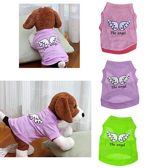 Chiot Animal Petit Chien Chat Ailes D'Ange Gilet Été Vêtements T-Shirt Costume