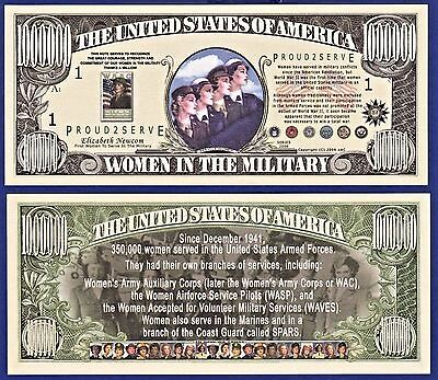 1-Veterans of War Million Dollar Bill Novelty Collectible FAKE MONEY-ITEM A
