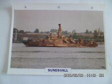 CARTE FICHE NAVIRES DE GUERRE SUNDSVALL 1991 CORVETTE LANCE MISSILES