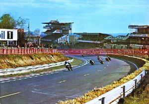 Circuit-Bugatti-Le-MANS-24H-Virage-des-Tribunes-Carte-Postale-Moto-Postcard