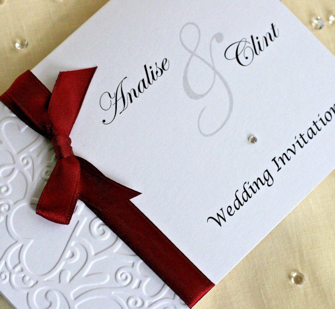 Mariage/Soirée Invitations Personnalisées en relief nœud Paysage plié | Nouveau Produit
