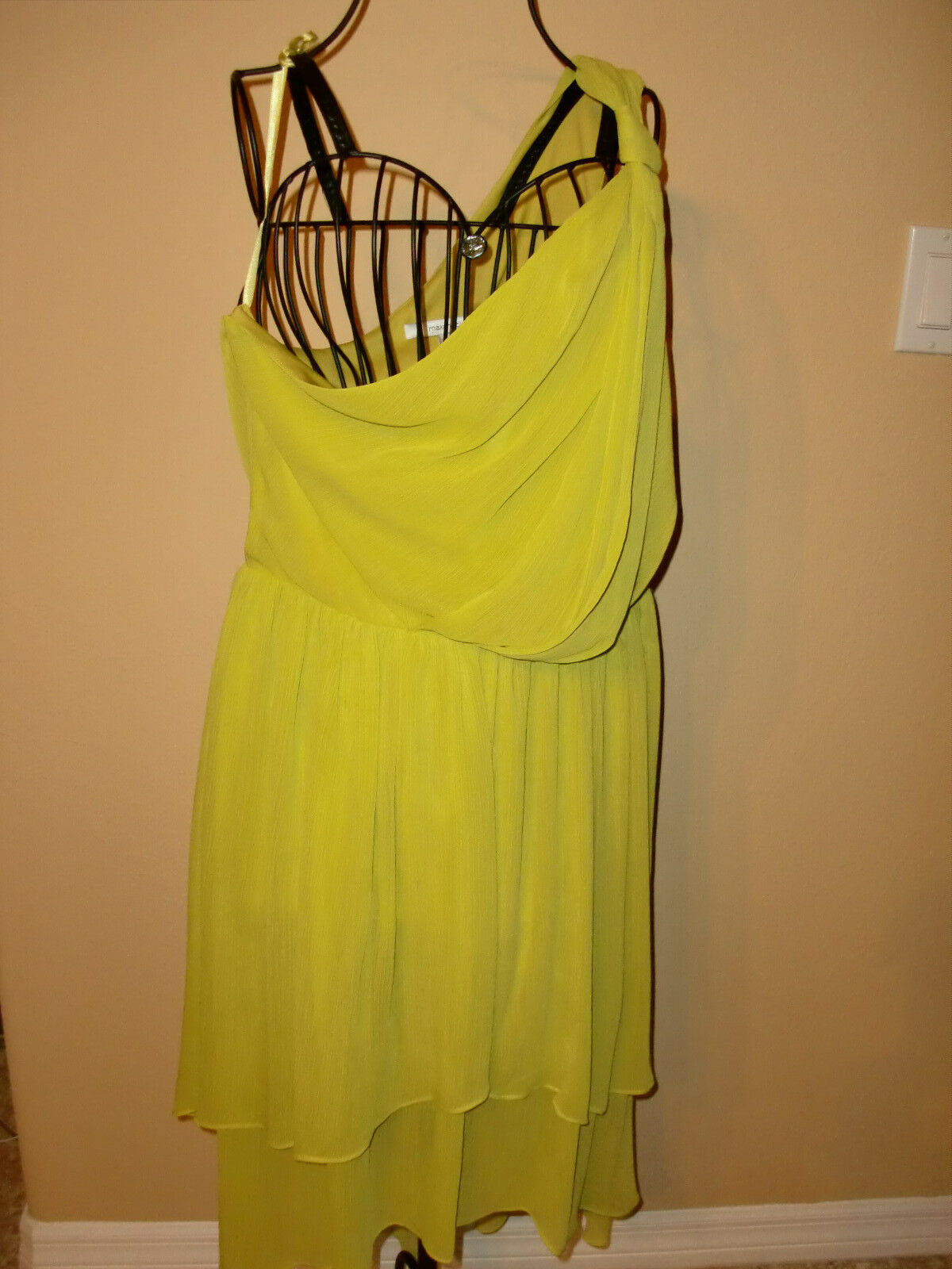 NWT$158MAX and CLEOPhoebe Lemongrass Asymmetrical One Shoulder Dress ...