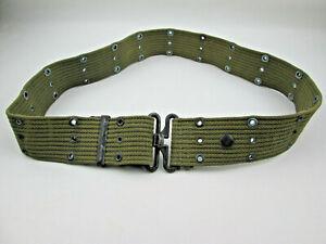 Vintage-US-Military-Green-Utility-Belt-Older-Twist-Latch-Style