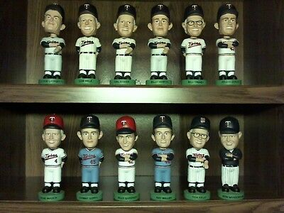 Complete Set of 2013 Minnesota Twins Managers Bobbleheads -12 Nodders thru Gardy