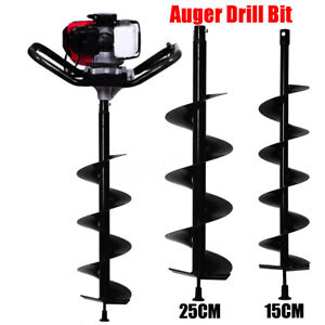 LHQ-HQ Spiral Bits 15cm 25cm Auger Drill Bit Electric Post Hole Digging Digger for Soil Ice Fence Decks Cutting Tools
