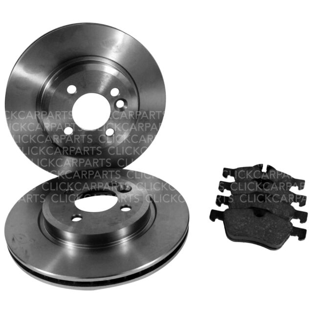 Front Apec Brake Disc Pair and Pads Set for VW POLO 1 ltr