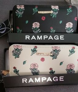 Rampage-Rose-Flower-Zip-Around-Clutch-Wallet-New-with-Tags