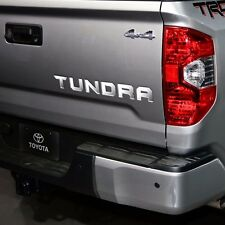 2014-2017 Toyota TUNDRA Tailgate Rear Vinyl Letters Chrome Inserts Stickers Trim
