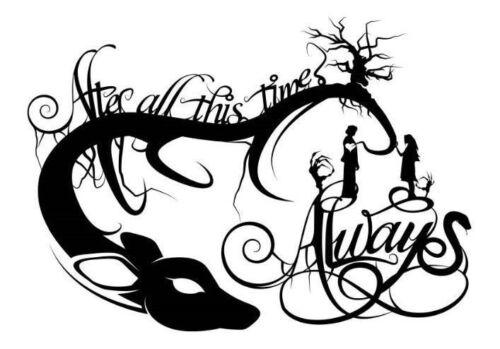 Harry Potter Snape Always vinyl wall//window//car stickers decor//decals room car