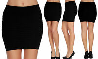 Black Girl Women Lady Mini Skirt Slim Fit Seamless Stretch Tight Fitted