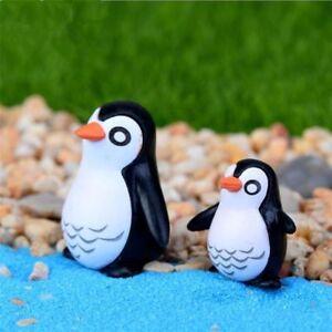 5pcs Cute Miniatures Crafts Mini Resin Penguin Model Moss