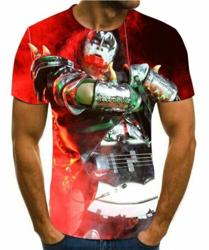 3 Styles 3D printed personalized cartoon t-shirt men/'s casual rock Street funny