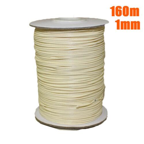 1 Rolle 80m//160m Wachs String//Schnur//Garn Für Schmuck 1mm 2mm Diy WACHS-Schnur
